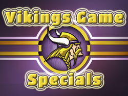 Vikings Drink Specials at Patriot Lanes Bar and Grill in St. Francis, MN